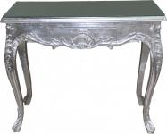 Casa Padrino Barock Konsolentisch Silber mit Schubladen Damen Schminktisch - Antik Stil - Barock Möbel