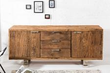 Casa Padrino Luxus Sideboard B.160 x H.75 x T.40 - Fernsehschrank - Kommode - Handgefertigt aus Massivholz!
