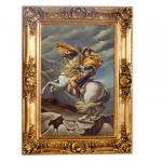Riesiges handgemaltes Barock Öl Gemälde Napoleon auf Pferd Gold Prunk Rahmen 220 x 160 x 10 cm - Massives Material