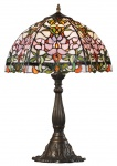 Casa Padrino Tiffany Tischleuchte / Tischlampe Mehrfarbig 42, 5 x 37 x H. 61 cm - Luxus Leuchte