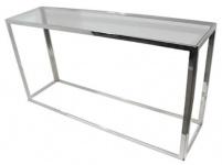 Casa Padrino Luxus Konsole Silber 150 x 40 x H. 78 cm - Wohnzimmer Konsolentisch