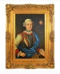 Handgemaltes Barock Öl Gemälde Ritter 2 Gold Prunk Rahmen 130 x 100 x 10 cm - Massives Material