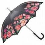 MySchirm Designer Regenschirm mit rosafarbenen Rosen - Eleganter Stockschirm - Luxus Design - Automatikschirm