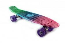 Koston / Paradise Oldschool Skateboard Plastic Cruiser 70s Style Metallic Fade - 22 x 6.0 inch - Plastik Vinyl Skateboard