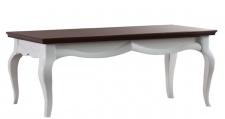 Casa Padrino Luxus Art Deco Couchtisch Weiß / Dunkelbraun 100 x 70 x H. 47 cm - Wohnzimmermöbel