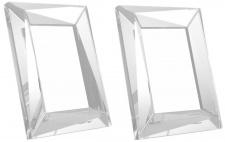 Casa Padrino Luxus Kristallglas Tisch-Bilderrahmen Set 18 x 3, 5 x H. 23, 5 cm - Luxus Qualität