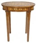 Casa Padrino Barock Beistelltisch Mahagoni Intarsien H80 x 50cm - Ludwig XVI Antik Stil Tisch - Möbel