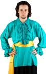 Captain Charles Vane Piraten Shirt - Hunter Green