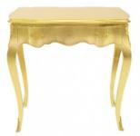 Casa Padrino Barock Konsolen Tisch Gold mit Schublade 80 x 40 cm - Möbel Antik Stil
