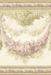 Casa Padrino Barock Papiertapete Beige / Gold / Rosa - 5, 00 x 0, 61 m - Prunkvolle Mustertapete mit Blumen Design und wunderschönen Verzierungen