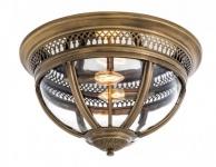 Casa Padrino Luxus Deckenleuchte Antik Messing Durchmesser 45 x H 30 cm Antik Stil - Möbel Lüster Deckenlampe