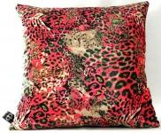 Casa Padrino Luxus Wohnzimmer Deko Kissen Kansas Leo Mehrfarbig 45 x 45 cm - Feinster Samtstoff - Luxus Kollektion
