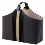 Casa Padrino Luxus Büffelleder Tasche / Korb - Designer Accessoires