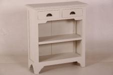 Casa Padrino Landhaus Stil Konsolen Tisch mit 2 Schubladen weiß - Shabby Chic Möbel
