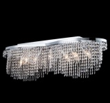 Casa Padrino Barock Kristall Decken Kronleuchter Nickel 93 x H 28 cm Antik Stil - Möbel Lüster Leuchter Deckenleuchte Deckenlampe