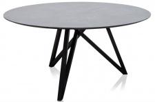 Casa Padrino Luxus Esstisch mit mineralbeschichteter Tischplatte 150 x H. 76 cm - Designer Esszimmermöbel