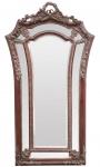 Casa Padrino Barock Wandspiegel Rotbraun 115 x H. 207 cm - Barockstil Spiegel