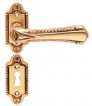 Casa Padrino Jugendstil Türklinken Set Französisches Gold 14, 1 x H. 8, 1 cm - Barock & Jugendstil Türgriffe im klassischen Design