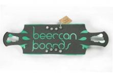 "Beercan Boards Oat Soda Drop Through Gas Pedal Deck green 35"" - Longboard Cruiser Deck"
