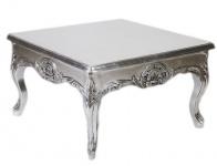 Casa Padrino Barock Beistelltisch Silber 80 x 80 cm - Couchtisch