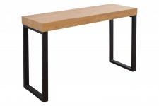Casa Padrino Designer Laptoptisch Natur / Schwarz 120 x 40 x H.75 - Schreibtisch - Sekretär Konsole - Computertisch