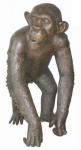 Casa Padrino Luxus Bronzefigur Schimpanse Bronze 45 x 60 x H. 78 cm - Deko Figur Skulptur