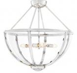 Casa Padrino Luxus Deckenleuchte Silber Ø 60 x H. 55 cm - Hotel & Restaurant Deckenlampe