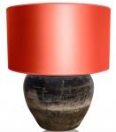 Casa Padrino Luxus Terracotta Tischleuchte Grau / Orange Ø 60 x H. 72 cm - Luxus Möbel