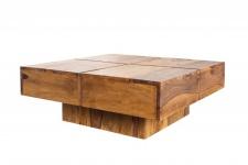 Casa Padrino Designer Massivholz Couchtisch Natur 80 x 30 cm - Salon Wohnzimmer Tisch