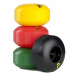 Enuff Skateboard Profi Wheel Set (4 Rollen) Rasta - Skateboard Wheels 53mm / 101A