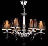 Casa Padrino Barock Decken Kristall Kronleuchter Chrome 58 x H 42, 5 cm Antik Stil - Möbel Lüster Leuchter Hängeleuchte Hängelampe