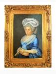 Handgemaltes Barock Öl Gemälde Dame 4 Gold Prunk Rahmen 130 x 100 x 10 cm - Massives Material