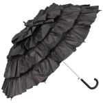 MySchirm Designer Automatikschirm eleganter Schirm für viele Gelegenheiten in schwarz - romantischer Dekoschirm