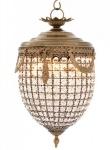 Casa Padrino Luxus Kronleuchter - Luxus Hängeleuchte Messing Durchmesser 32 x H 65 cm