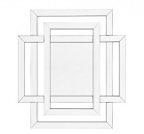 Casa Padrino Designer Luxus Wandspiegel 100 x H 110 cm - Luxus Hotel Spiegel