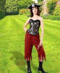 Rachel Wall Striped Black/Red - Medieval Pirat