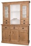 Casa Padrino Landhausstil Küchenschrank Braun / Weiß 137 x 50 x H. 197 cm - 2 Teiliger Küchenschrank mit 5 Türen und 7 Schubladen