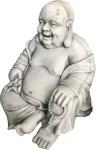 Casa Padrino Luxus Deko Skulptur Buddha Hellgrau 65 x 55 x H. 60 cm - Limited Edition
