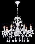 Casa Padrino Barock Kristall Decken Kronleuchter Glänzend Weiß 68 x H 55 cm Antik Stil - Möbel Lüster Leuchter Hängeleuchte Hängelampe