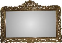 Casa Padrino Barock Spiegel Gold Handgefertigt 168 x 116 cm - Holzspiegel - Barock Möbel