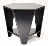 Casa Padrino Luxus Beistelltisch mit schwarzem Spiegelglas 59 x 51 x H. 49 cm - Designermöbel
