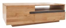 Casa Padrino Designer Fernsehschrank Natur Eiche B.115 x H.40 x T.60 - Sideboard - Kommode - Handgefertigt Massivholz!