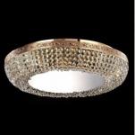 Casa Padrino Barock Decken Kristall Kronleuchter Gold 60 x H 13, 5 cm Antik Stil - Möbel Lüster Leuchter Hängeleuchte Hängelampe