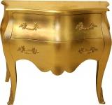 Casa Padrino Barock Kommode Gold 100 cm mit 2 Schubladen - Antik Stil Möbel Wohnzimmer