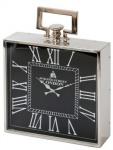 Casa Padrino Designer Luxus Uhr London 41 cm x 12 cm x H. 54 cm Nickel - Tischuhr