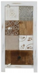 Casa Padrino Landhausstil Shabby Chic Kommode Antik Weiß / Mehrfarbig 40 x 32 x H. 90 cm - Kleiner Landhausstil Schrank mit Tür