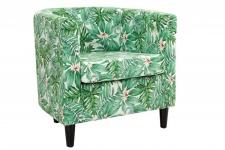 Sessel Blumenmuster / grün - Luxus Sessel