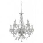 Casa Padrino Barock Decken Kristall Kronleuchter Klar Durchmesser 82 x H 84 cm Antik Stil - Möbel Lüster Leuchter Deckenleuchte Hängelampe