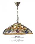 Casa Padrino Tiffany Hängeleuchte Durchmesser 40cm Leuchte - Glas Mosaik Lampe Handgefertigt