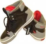 SUPRA Skateboard Schuhe Vaider Kids Schwarz/Grau/Rot